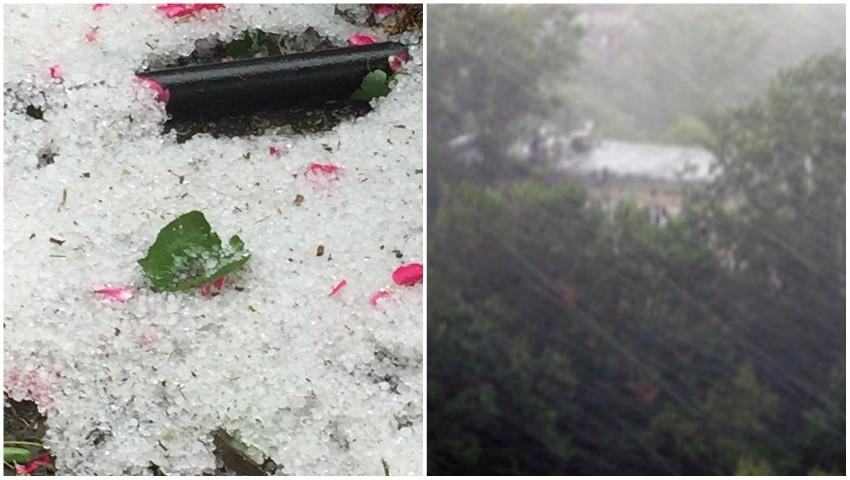 Foto: A plouat cu grindină la Țarigrad, iar la Sângerei s-au rupt norii!