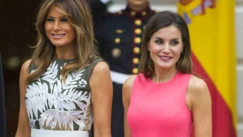 Melania Trump şi Regina Letizia, duelul ținutelor! Ce rochii au îmbrăcat la întâlnirea de la Casa Albă