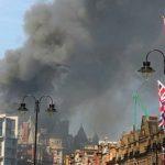 Foto: Incendiu uriaș în Londra! Arde un hotel de lux