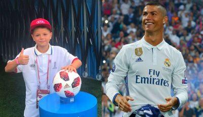 Un băiețel de 11 ani din Moldova l-a condus pe Cristiano Ronaldo pe terenul de fotbal, în meciul cu Uruguay