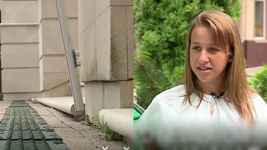 """Foto: O elevă de 12 ani din Chișinău a inventat ,,bastonul cu senzori"""" pentru nevăzători"""