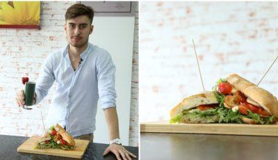 Tânăr și ingenios! Marius David a gătit panini italienești și un smoothie energizant