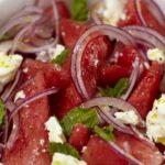 Foto: O rețetă de vară! Salată de pepene verde cu spanac și mentă