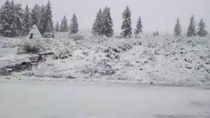Foto: Video! Surpriză de proporții. Ninge în sudul Rusiei