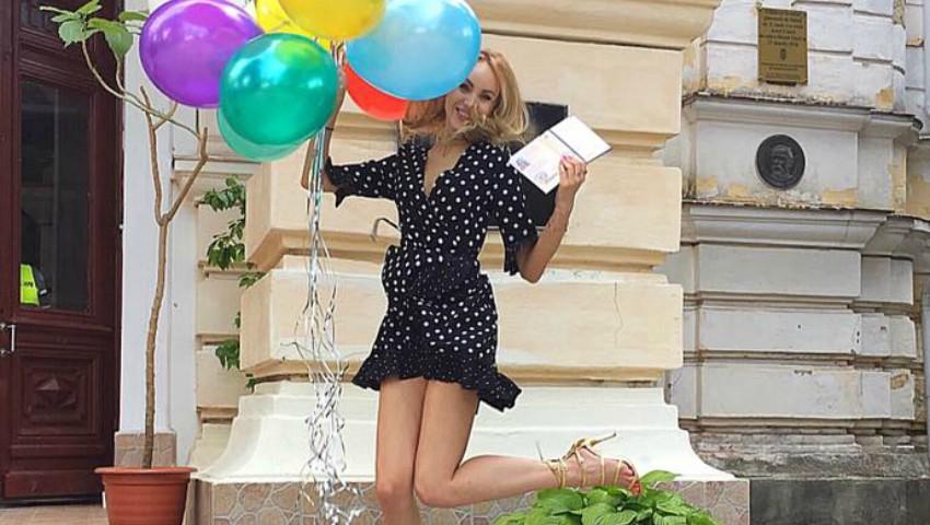 Kătălina Rusu a absolvit studiile de master cu media 9,5