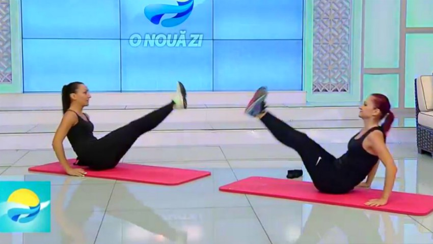 Foto: Scapă de burtă. Set de exerciții pentru un abdomen plat! Video