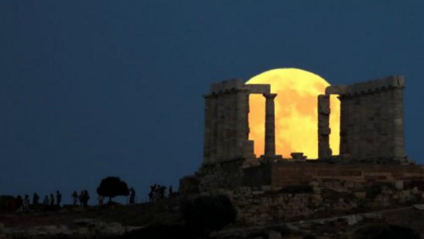 Foto: Cum s-a văzut Luna plină în Grecia? Imagini senzaționale
