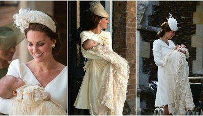 Ce ținute a purtat Kate Middleton la botezul copiilor săi?