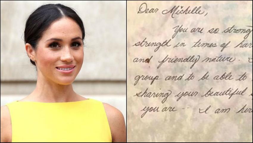 Foto: Scrisoarea pe care Meghan Markle a trimis-o unei foste colege de clasă pe când avea doar 12 ani