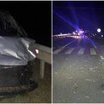 Foto: Accident grav pe traseul Leușeni-Chișinău: o tânără de 25 de ani și 3 copii au murit pe loc