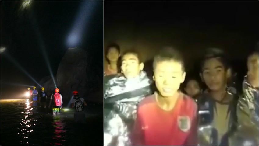 Foto: 12 copii nu pot fi salvați dintr-o peșteră inundată din Thailanda
