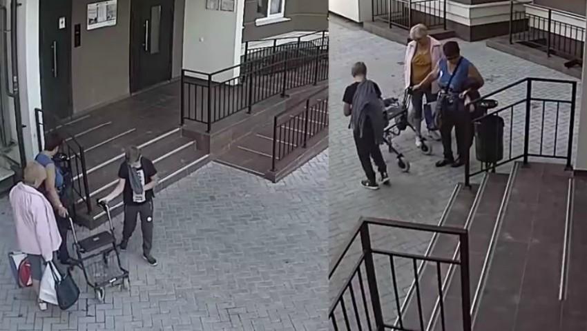 Foto: Cele două femei care au furat rolatorul ortopedic din curtea blocului au fost identificate