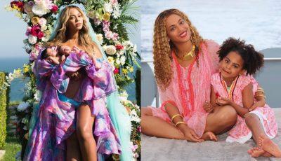 Beyonce a publicat o fotografie cu gemenii săi în vârstă de 13 luni