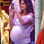 Foto: Celebrități care nu și-au ascuns burticile proeminente în timpul sarcinii