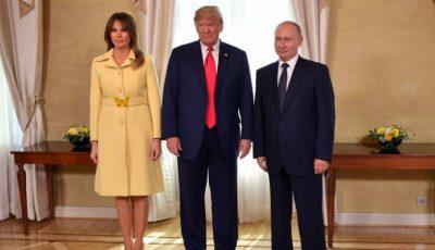 Momentul în care Melania Trump dă mâna cu Vladimir Putin a făcut înconjurul lumii
