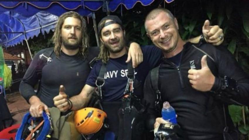 Foto: Cine sunt eroii care i-au salvat pe copiii blocați în peșteră