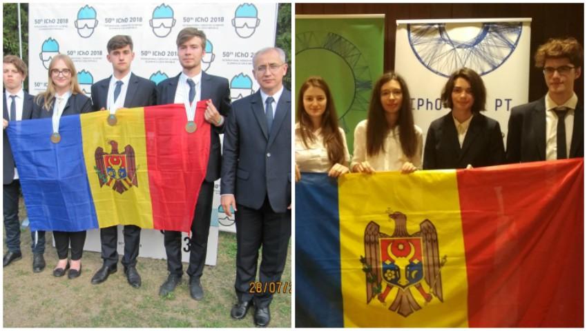 Foto: Elevii moldoveni au obținut cinci medalii de bronz la Olimpiadele Internaționale de Fizică și Chimie