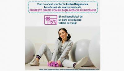 O noutate bună! Invitro Diagnostics oferă pachete de analize medicale la un preț special pentru persoanele care practică sportul!