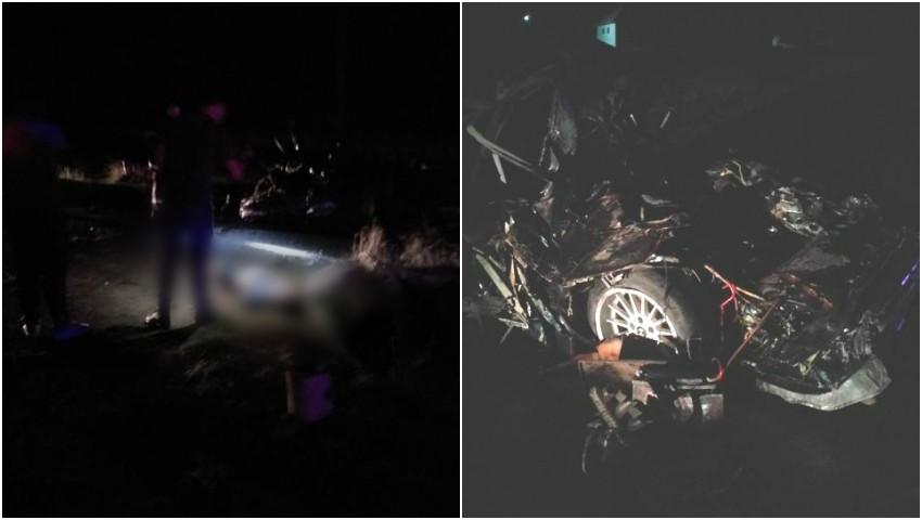 Foto: Grav accident la Ștefan Vodă: Doi tineri, o fată și un băiat, au murit pe loc