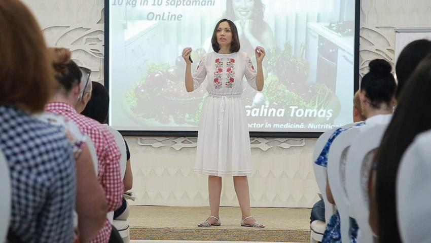 Foto: Cum a fost la primul seminar gratuit din cadrul Turneului Internațional: Cum să slăbești 10 kg în 10 săptămâni Online