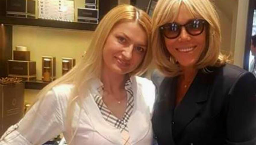Foto: Brigitte Macron este clienta unei moldovence