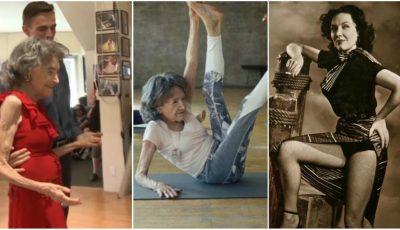 Cea mai în vârstă profesoară de yoga din lume a împlinit 100 de ani!