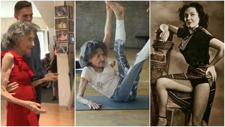 Foto: Cea mai în vârstă profesoară de yoga din lume a împlinit 100 de ani!