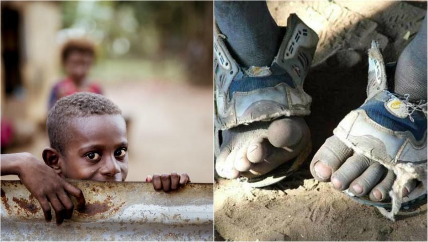 Foto: Un tânăr a inventat sandalele ajustabile, pentru milioane de copii săraci din lume