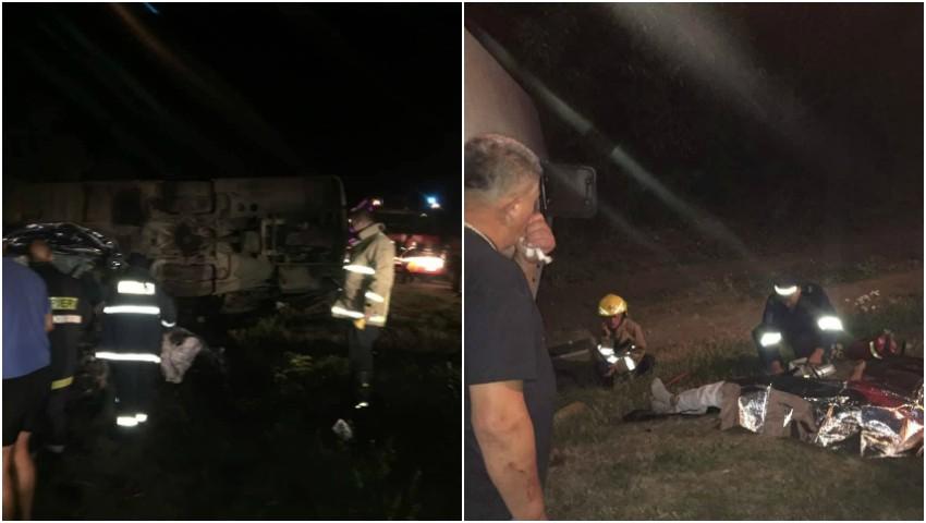 Foto: Un autocar plin cu moldoveni s-a răsturnat în drum spre Zatoka: trei morți și 13 răniți