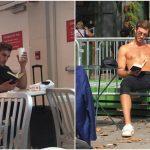 Foto: Proiect inedit. O fotografă a pozat pe ascuns bărbații care citesc cărți în locurile publice
