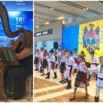 Foto: Foto/Video. Ziua Limbii Române a fost sărbătorită la Aeroportul Internațional Chișinău