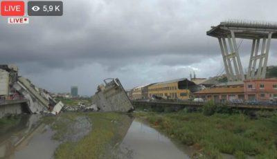 """Tragedie în Italia. ,,Zeci de morți"""" după ce un pod s-a prăbușit la Genova"""