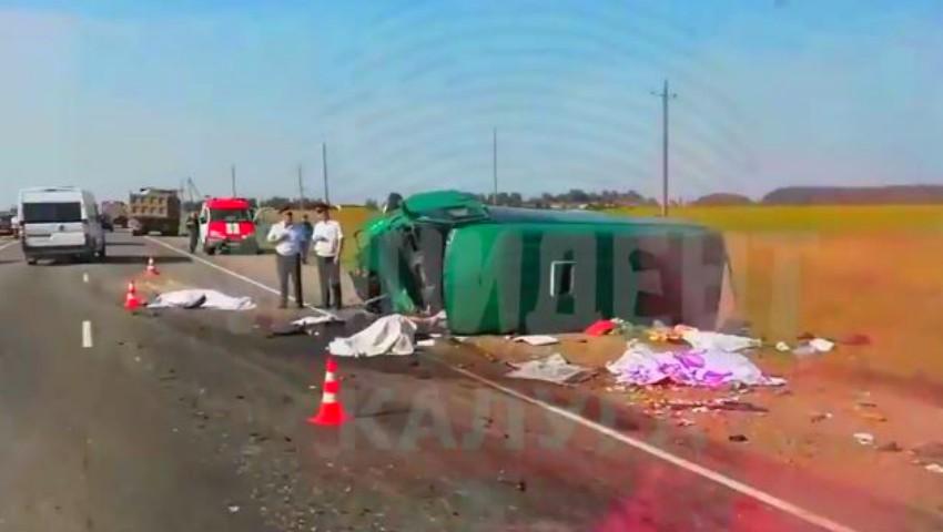 Foto: Video. Cum s-a produs groaznicul accident din Rusia, în care au murit șase cetățeni moldoveni