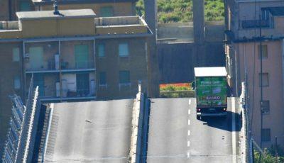 Șoferul camionului oprit la doar câțiva metri de prăpastie se află în stare de șoc