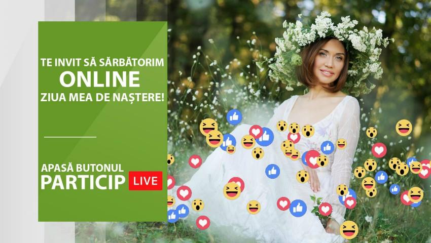 Foto: Galina Tomaș își sărbătorește ziua de naștere ONLINE alături de femei din toată lumea. Participă și tu la eveniment!