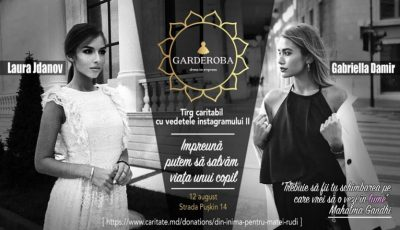 Fashionistele Laura Jdanov și Gabriella Damir își vând hainele la un târg caritabil