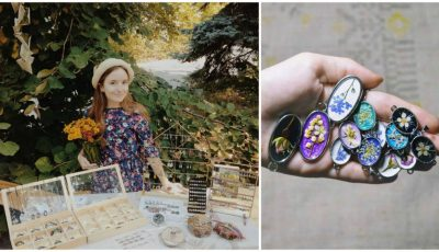 Conservarea naturii în bijuterii: cercei, coliere și broșe împodobite cu flori vii și ierburi sălbatice
