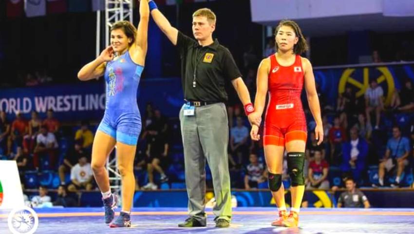 Foto: Moldoveanca Anastasia Nichita a devenit campioană mondială la lupte