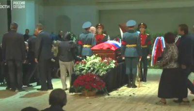 Video. La Moscova au loc funeraliile lui Iosif Kobzon