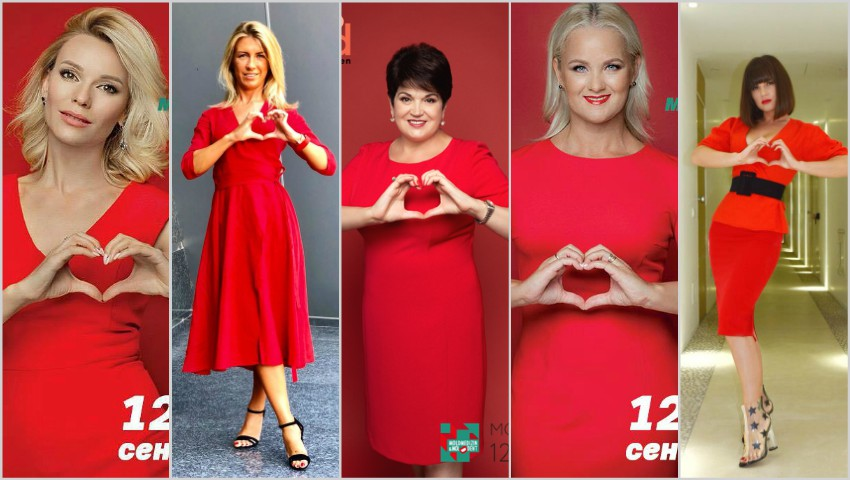 """Foto: Persoanele publice susțin campania ,,Femeile Moldovei spun ,,DA!"""" Inimii sănătoase""""! Alătură-te și tu proiectului!"""