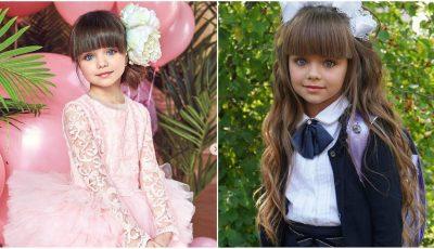 """,,Cea mai frumoasă fetiță din lume"""" a mers în clasa întâi. Foto/Video"""