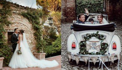 Tradiții moldovenești la nunta Cristinei Surdu și a iubitului ei, arhitectul italian Luca Corradi. Video impresionant!