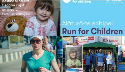 Susține echipa #RunForChildren, la Maratonul Internațional Chișinău: circa 120 de alergători vor ajuta 3 familii sărace care cresc 14 copii!