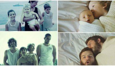 Amuzant. Câteva familii au reconstituit momentele din copilărie. Iată ce a ieșit!