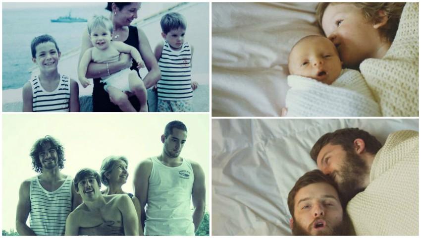 Foto: Amuzant. Câteva familii au reconstituit momentele din copilărie. Iată ce a ieșit!