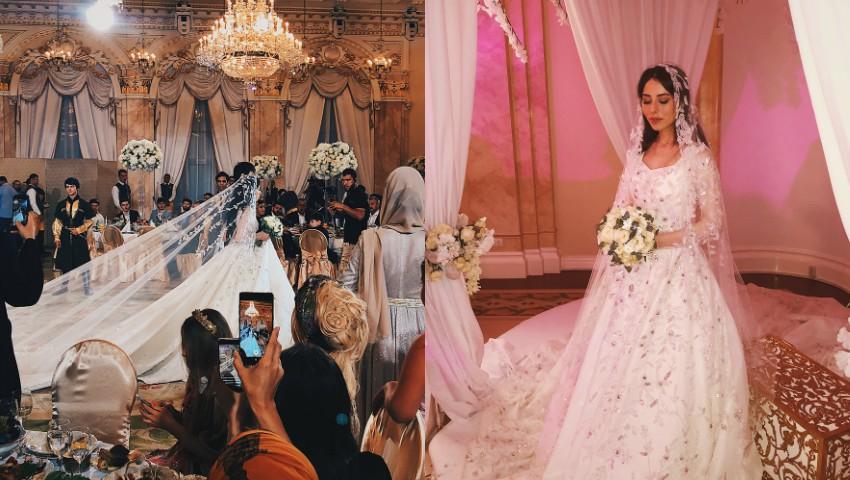 Foto: Nunta de lux în Rusia! Fiul unui politician s-a căsătorit cu aleasa inimii sale, o tânără de 18 ani. Doar tortul miresei a costat 3 milioane de ruble