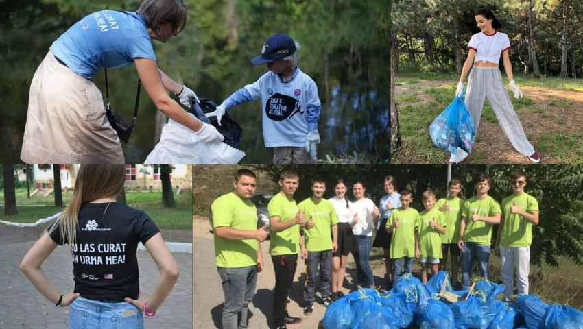 Foto: Persoane publice, reprezentanți ai ambasadelor, dar și simpli cetățeni, s-au mobilizat pentru a face Moldova mai curată!