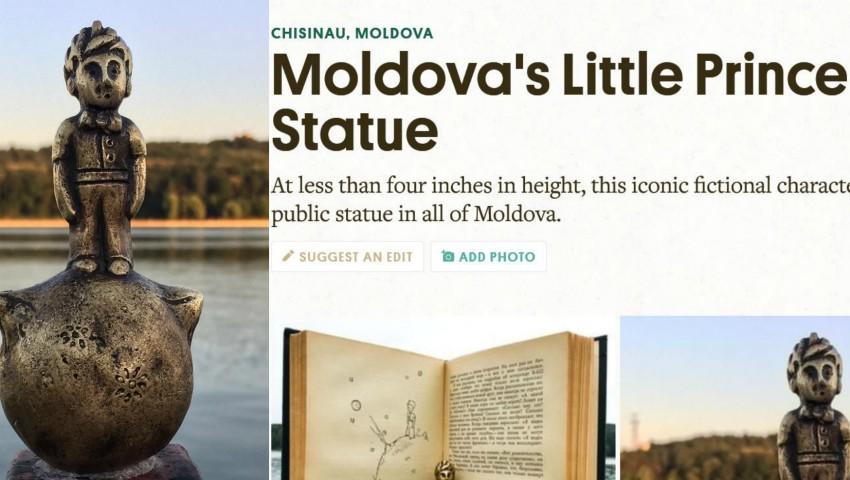 Foto: Statuia Micului Prinț, din Chișinău, a devenit subiect de știre peste Ocean