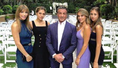 Un soț și un tată împlinit! Sylvester Stallone, alături de fetele sale