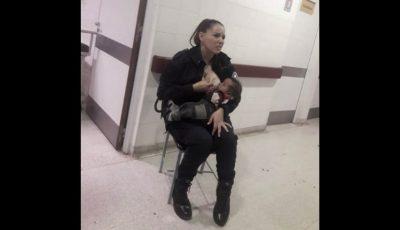 Gestul unei polițiste care a alăptat un copil subnutrit a făcut înconjurul lumii